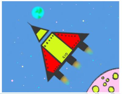 Draw a spaceship