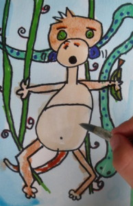 paint monkeys, draw monkeys