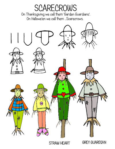 draw simple scarecrows