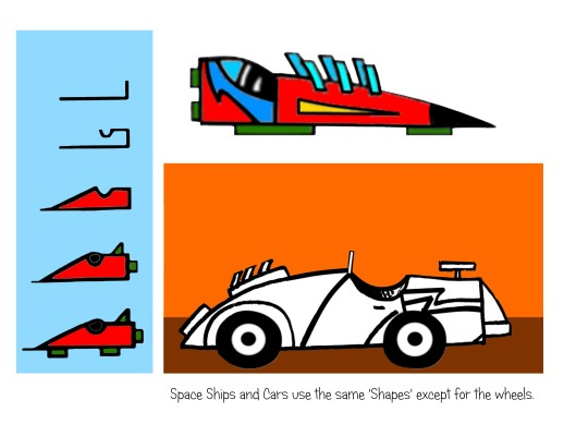 teach how to draw spaceships, draw cars