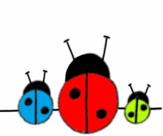 easy to draw ladybug, drawing for three to five year old children