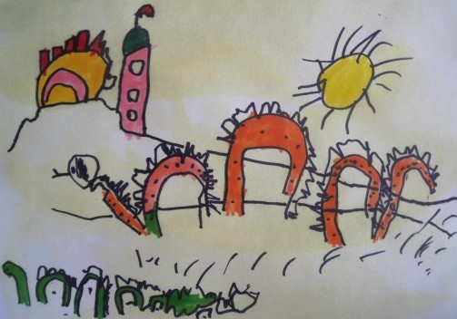 how to draw with young kids, draw ogo pogo, what do I teach 3 to 5 year old to draw