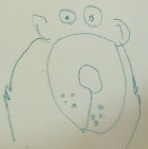 draw a cute bear, 3 to 5 year old drawing,