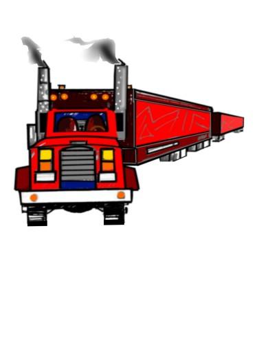 draw semi truck 3-D