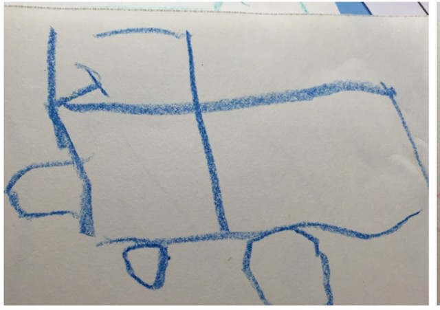 Truck drawing by 4 year old