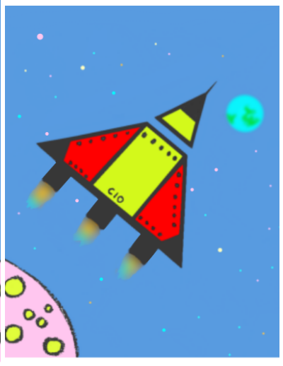 Draw a spaceship