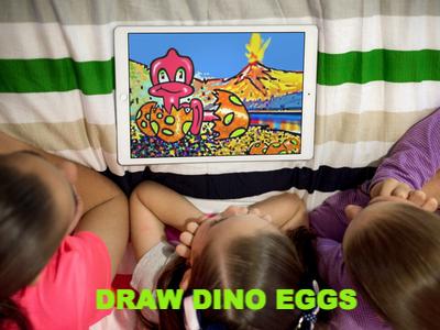 Draw Dino Eggs