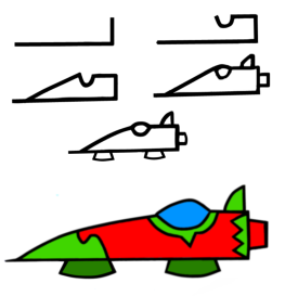 The basic Artabet model for a flying, floating or driving machine.