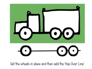Draw an easy truck in 2-D for ages 4 to 9