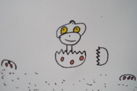 Draw cute dinosaur