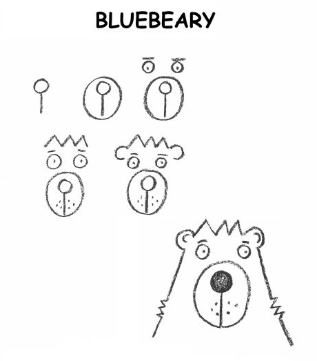 draw a cute bear, draw an easy bear,Drawing for 3 to 5 year olds,