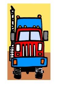 Draw an easy Semi -Truck for ages 4 to9