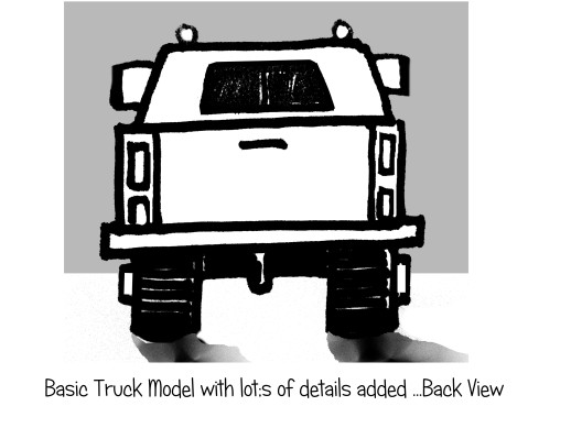 Draw basic truck for ages 5 to 9 step by step