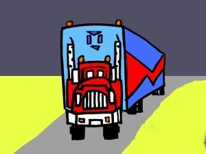 Draw 3-D truck for 6 to 9 year old