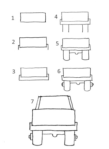 What you should teach a 4 to9 year old when drawing cars and trucks