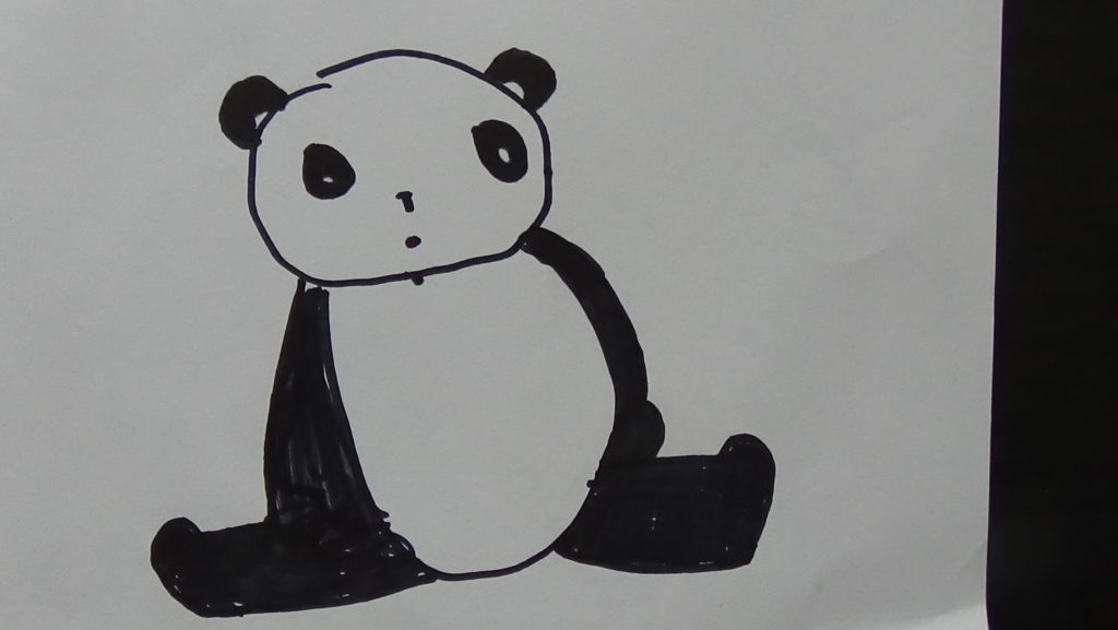 Easy Drawing of Panda