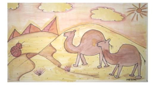 Draw desert theme